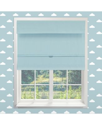"Cordless Magnetic Roman Shades, Room Darkening Fabric Window Blind, 48"" W x 64"" H"