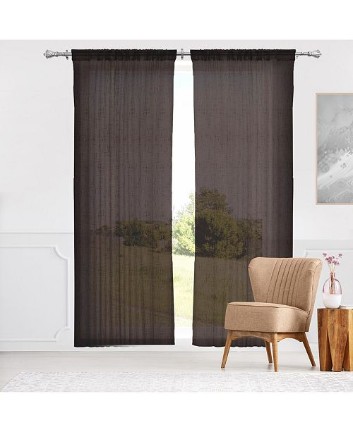 "Chicology Rod Pocket Curtains, 52"" W x 84"" H"