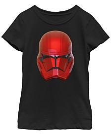 Star Wars Big Girls Rise of Skywalker Sith Trooper Helmet T-Shirt