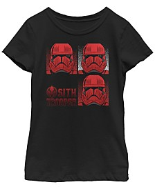 Star Wars Big Girls Rise of Skywalker Sith Trooper Box Up T-Shirt