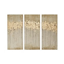 Madison Park Sandy Forest 3-Pc. Gel/Foil-Embellished Canvas Print Set