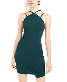 Juniors' Strappy Scuba Sheath Dress