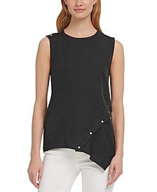 Studded Asymmetrical Tank Top