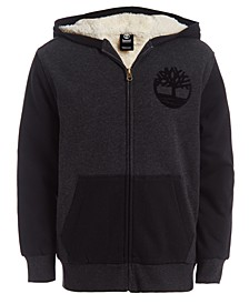 Big Boys Colorblocked Fleece-Lined Logo Hoodie