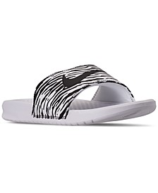 Women's Benassi JDI Print Slide Sandals from Finish Line