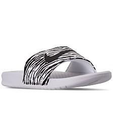 Nike Women's Benassi JDI Print Slide Sandals from Finish Line