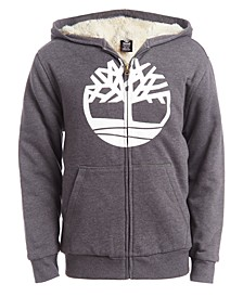 Big Boys Tree Gray Fleece-Lined Logo Hoodie