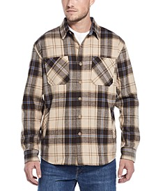 Men's Mountain Regular-Fit Plaid Flannel Twill Shirt Jacket