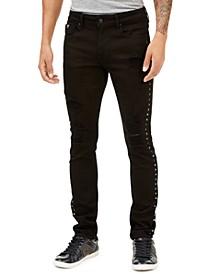 Men's Skinny-Fit Studded Jeans