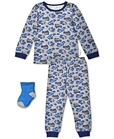 Toddler Boys 3-Pc. Cars Pajamas & Socks Set, Created For Macy's
