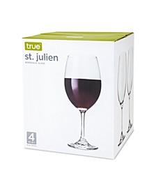 True St. Julien Set of 4 Bordeaux Glass