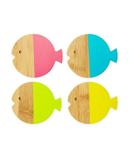 TrueZoo Fish Coasters, Set of 4