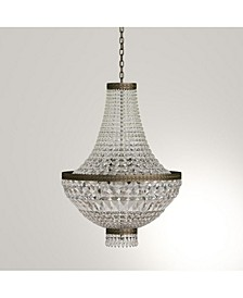 Metropolitan 8-Light Antique Bronze Finish and Clear Crystal Chandelier