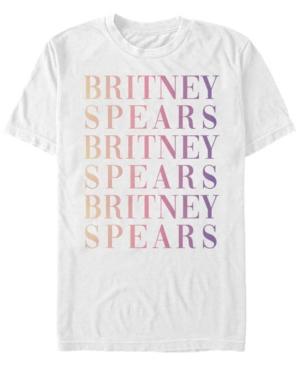 Britney Spears Men's Gradient Name Stack Short Sleeve T-Shirt