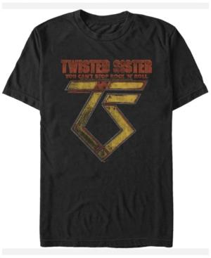 Twisted Sister Men's Metal Rock N Roll Logo Short Sleeve T-Shirt