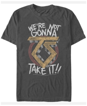 Twisted Sister Men's We're Not Gonna Take It Text Logo Short Sleeve T-Shirt