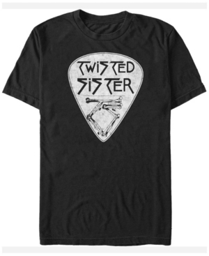 Twisted Sister Men's Guitar Pick Logo Short Sleeve T-Shirt