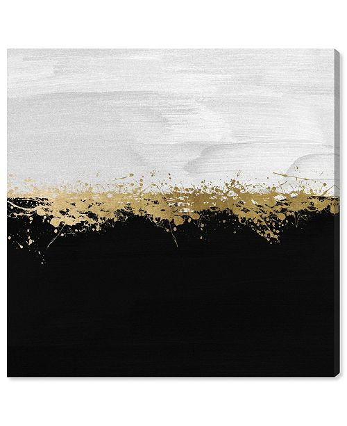 """Oliver Gal Halfway in Black and White Canvas Art, 12"""" x 12"""""""