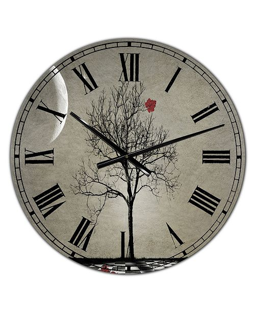 "Designart Inevitable Large Cottage Wall Clock - 36"" x 28"" x 1"""