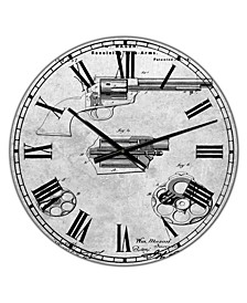 """Pp1119-Slate Us Firearms Single Action Army Revolver Patent Poster Large Cottage Wall Clock - 36"""" x 28"""" x 1"""""""