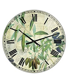 Designart Olives De Nice Oversized Cottage Wall Clock 36 X 28 X 1 Reviews Clocks Home Decor Macy S