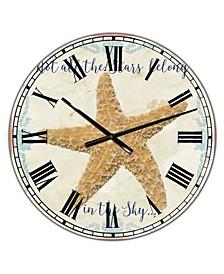 "Sea Shells-C Large Nautical & Coastal Wall Clock - 36"" x 28"" x 1"""