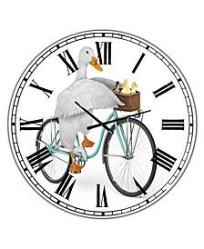 "Riding Bikes Large Modern Wall Clock - 36"" x 28"" x 1"""