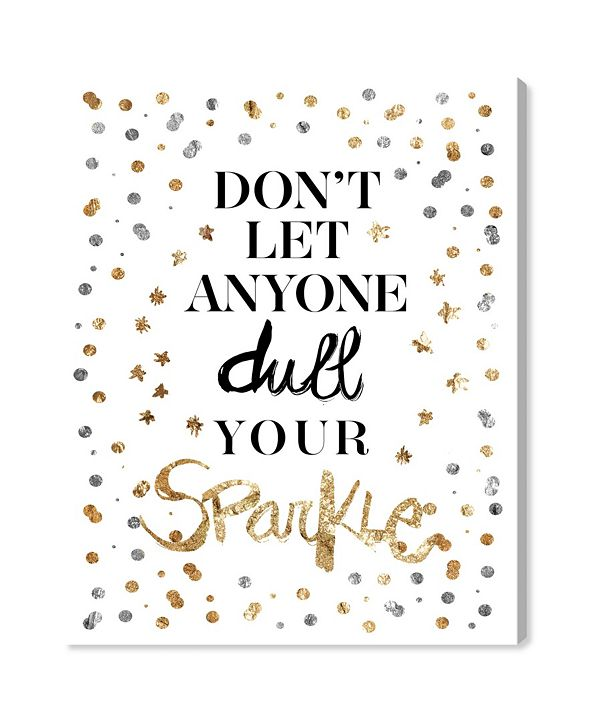 "Oliver Gal Always Shine Confetti Canvas Art, 30"" x 36"""