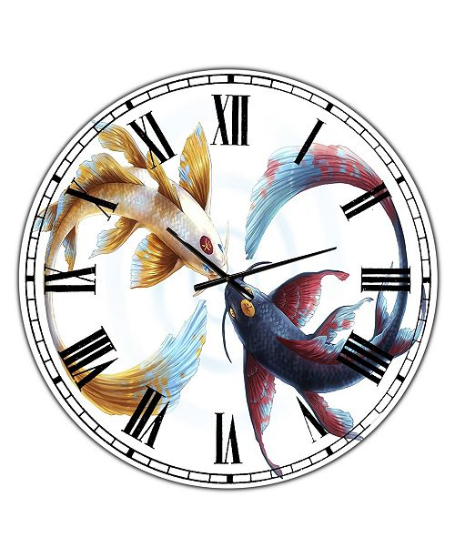 "Designart Eternal Bond Oversized Nautical & Coastal Wall Clock - 36"" x 28"" x 1"""