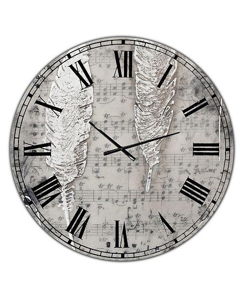 "Designart Heaven Sent Oversized Cottage Wall Clock - 36"" x 28"" x 1"""