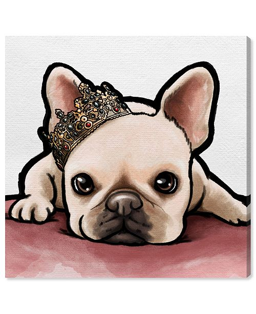 "Oliver Gal Royal Frenchie Canvas Art, 24"" x 24"""