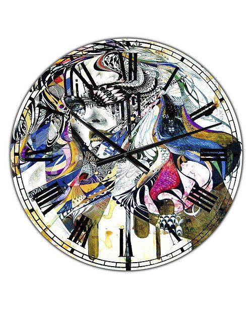 "Designart Reminiscence II Oversized Modern Wall Clock - 36"" x 28"" x 1"""
