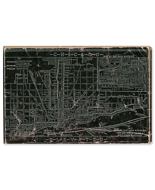 "Oliver Gal Chicago Railroad Canvas Art, 45"" x 30"""