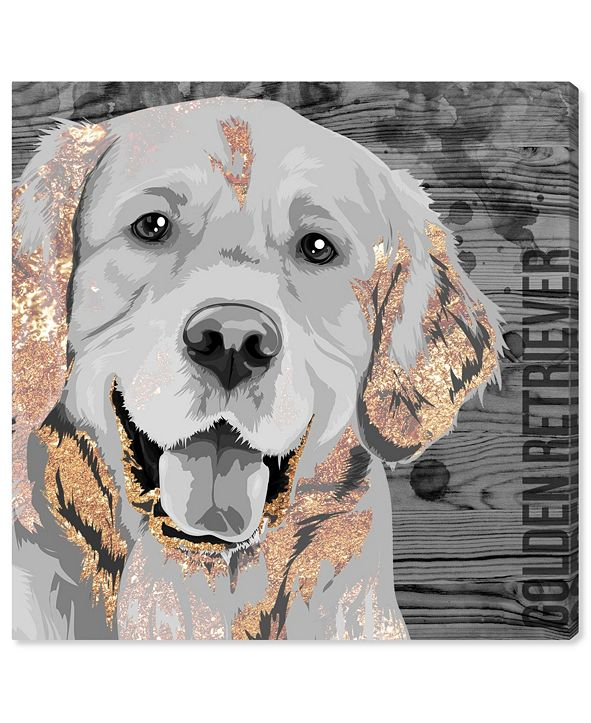 "Oliver Gal Love Golden Retriever Canvas Art, 43"" x 43"""