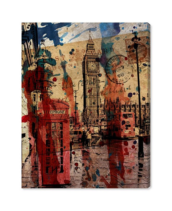 """Oliver Gal London in Red Canvas Art, 17"""" x 20"""""""