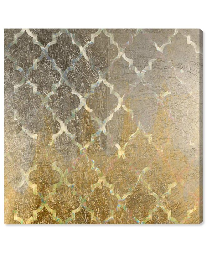 "Oliver Gal Arabesque Platinum Canvas Art, 24"" x 24"""