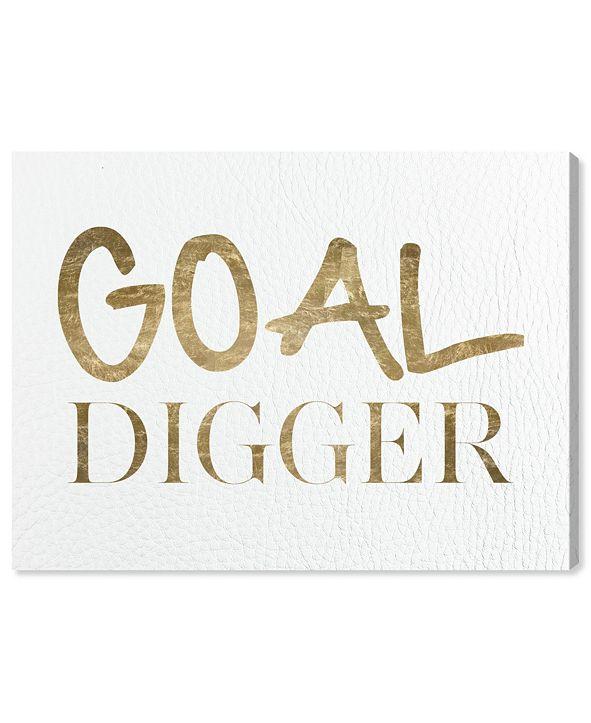 """Oliver Gal Goal Digger Canvas Art, 16"""" x 12"""""""