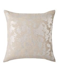 Metallic Rib Print 18 Square Decorative Pillow