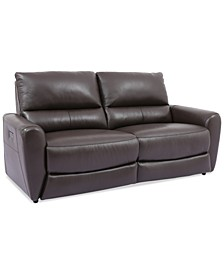 Danvors 2-Pc. Leather Sectional Sofa with 2 Power Recliners, Headrests