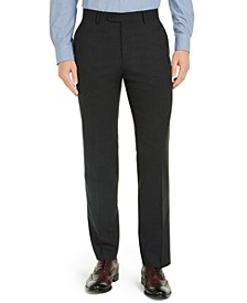 Men's Modern-Fit Charcoal THFlex Suit Pants