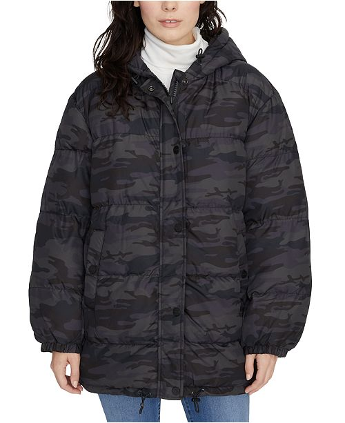 Sanctuary Camo Puffer Coat