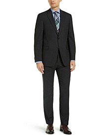 Men's Modern-Fit THFlex Stretch Charcoal Neat Suit Separates