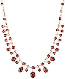 """Gold-Tone Crystal & Stone Collar Necklace, 16"""" + 3"""" extender"""