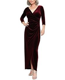 Petite Surplice Velvet Gown
