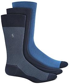 Men's Birdseye Dress Socks, 3 Pack