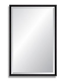 "Reveal Black Bamboo Beveled Wall Mirror - 24"" x 37.5"""