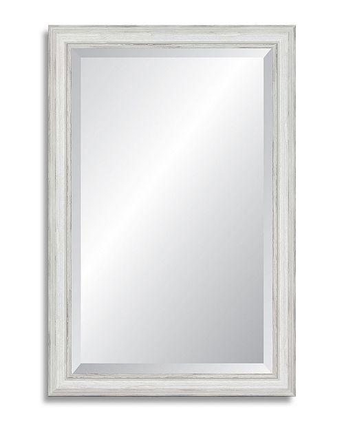 Reveal Frame & Decor Reveal Farmhouse White Beveled Wall Mirror