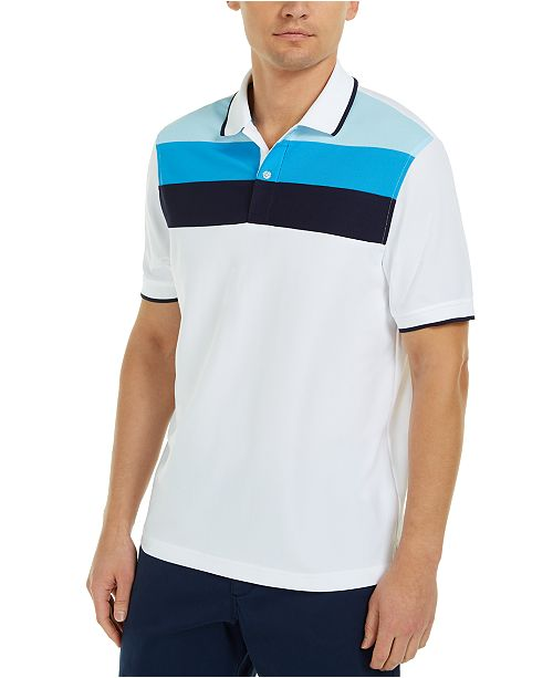 Club Room Men's Colorblocked Polo Shirt, Created For Macy's