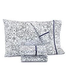 CLOSEOUT! Novelty Print Queen 4-Pc. Sheet Set, 250 Thread Count 100% Cotton, Created for Macy's