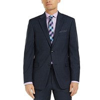 Deals on Tommy Hilfiger Mens Modern-Fit Mini Grid THFlex Suit Jacket